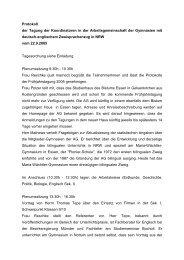 Protokoll der Tagung der Koordinatoren in der Arbeitsgemeinschaft ...