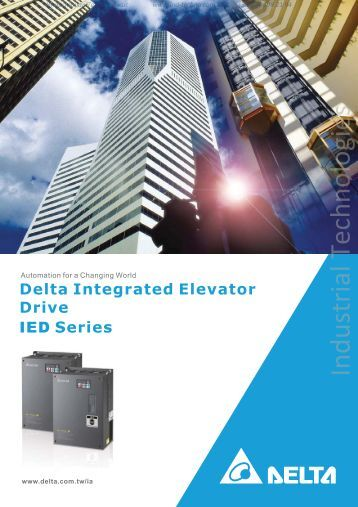 Delta Integrated Elevator Drive IED Series - Industrial Technologies