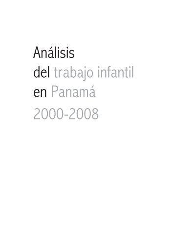 Análisis del trabajo infantil en Panamá 2000-2008