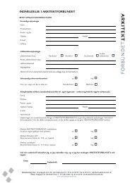 Hent fil (105 Kb) - Arkitektforbundet