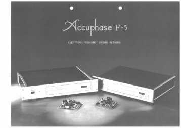 Accuphase F-5 electronic crossover - AllegroSound