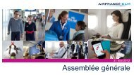 Présentation de l'Assemblée générale 2012 - Air France-KLM Finance