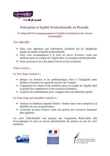 Entreprise et Egalité Professionnelle en Picardie - AGEFOS PME ...