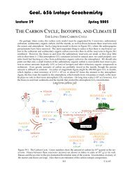 Lecture 38: The Carbon Cycle, Isotopes, and Climate II