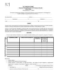 modulo di domanda - Comune di Rimini