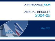 Presentation - Air France-KLM Finance