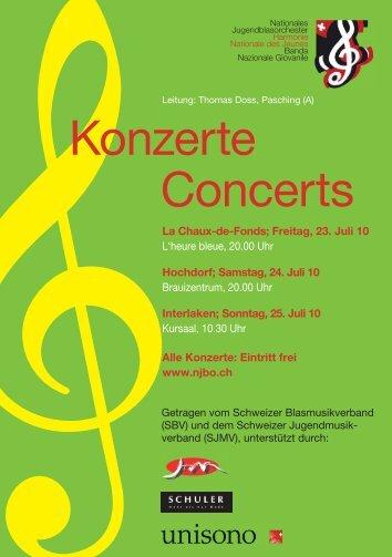 Konzerte Concerts - Nationale Jugendblasorchester