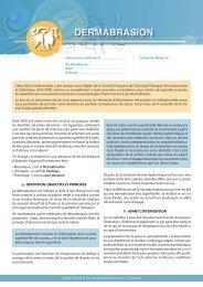 Dermabrasion - Centre de Chirurgie Esthétique ARMONY