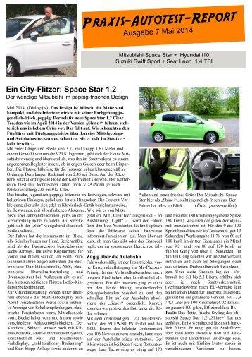 Praxis-Autotest-Report von Presseweller
