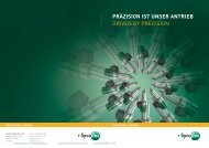 präzision ist unser antrieb driven by precision - Industrial Technologies