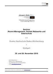 Seminar Alumni-Management, Soziale Netzwerke ... - alumni-clubs.net