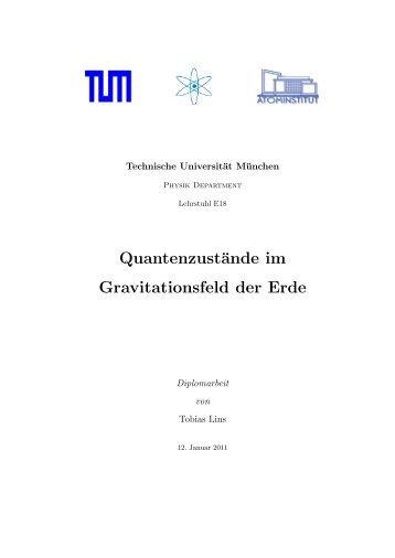 Quantenzustände im Gravitationsfeld der Erde - Atominstitut