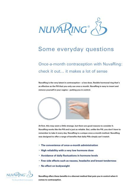 Nuvaring coming out  Spotting with the NuvaRing  2019-06-01