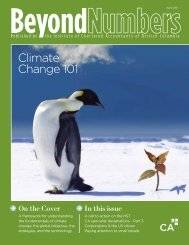 On the Cover Climate Change 101 - Institute of Chartered ...