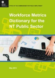 Workforce Metrics Dictionary for the NT Public Sector - Office of the ...