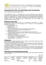 Arbeitsbericht über die Aktivitäten des Vorstandes - KER-C ...