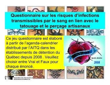 Questionnaire sur les risques d'infections transmissibles par le sang ...