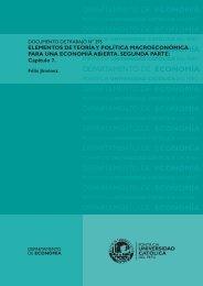 Elementos de teoría y política macroeconómica para una economía ...