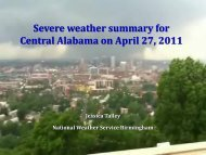 Severe weather summary for Central Alabama on April 27, 2011