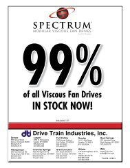 We can now BUILD 99% of All Viscous Fan Drives - Drive Train ...