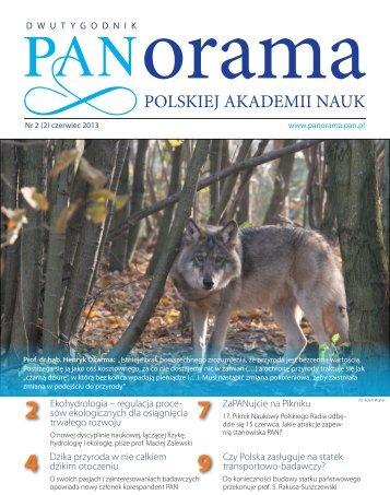 PAnorAMA PAn 2 (2) czerwiec 2013 - Polska Akademia Nauk