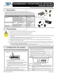 TRANSMISORES Y RECEPTORES DE 300/390 MHz 1 ... - BEA