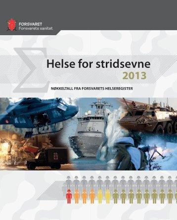 Helse for stridsevne 2013 - Forsvaret