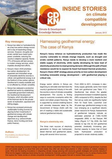 Harnessing geothermal energy - CDKN Global