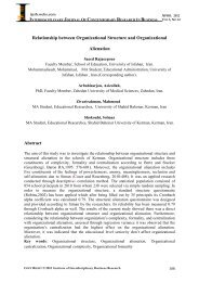 Relationship between Organizational Structure and - journal ...