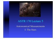 ASTR 170 Lecture 5