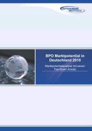 BPO Marktpotential in Deutschland 2010 - Dressler & Partner