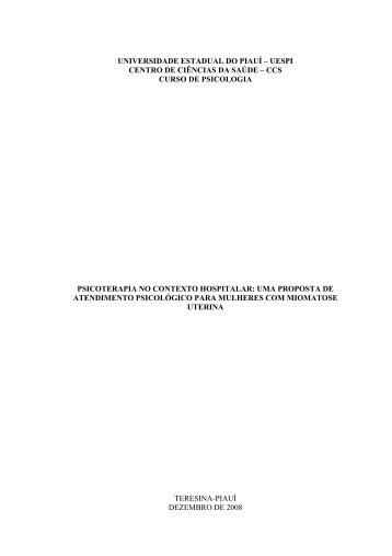 universidade estadual do piauí - BVS Psicologia ULAPSI Brasil
