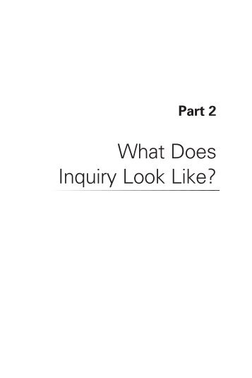 What Does Inquiry Look Like? - Education - AAAS