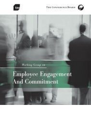 Employee Engagement And Commitment - The Conference Board