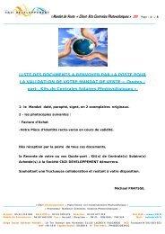 ©Mandat de Vente « Client Kits Centrales Photovoltaïques ... - Cn2i.fr