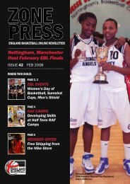 Nottingham, Manchester Host February EBL ... - England Basketball