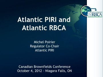 Michel Poirier, Atlantic PIRI - Canadian Brownfields