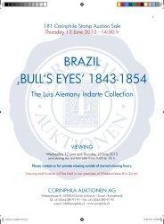 Catalogue 181: Grand-Prix collection Brazil - Corinphila Auktionen AG