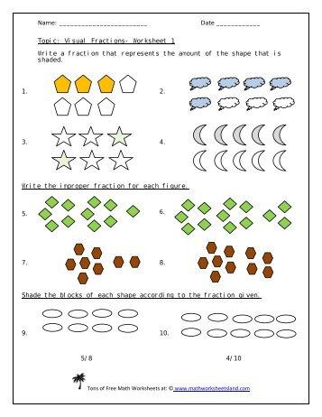 math worksheet : equivalent fractions worksheet  math for children : Visual Fraction Worksheets