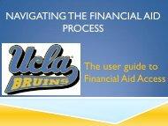 Electronic Financial Aid Notification (eFAN) Tutorial