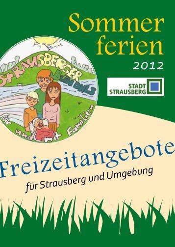 Sommer ferien - Strausberger Bündnis für und mit Familien