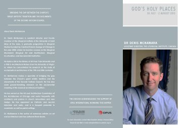 Dr Denis McNamara - Brochure.pdf - Catholic Diocese of Christchurch