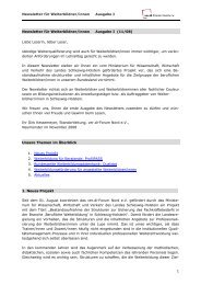 zum InfoTrain I-2008 - Hamburgs Kursportal WISY