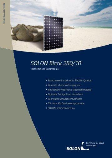SOLON Black 280/10