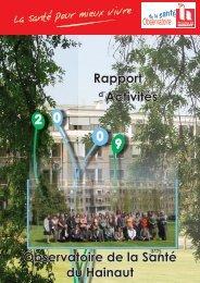 Rapport d'activités 2009 - La Province de Hainaut