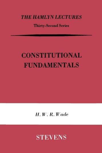 Constitutional Fundamentals - College of Social Sciences and ...