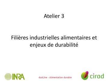 Filières industrielles alimentaires et enjeux de durabilité - Inra