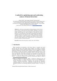 A method for capitalizing upon and synthesizing analyses of ... - Icar