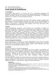 Linee guida di Endodonzia - Accademia Italiana Endodonzia