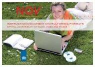 Instruction Document On Multimedia Formats - ICTU